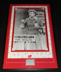 Lucille Ball Signed Framed 27x41 I Love Lucy Poster Display AW Vitameatavegemin