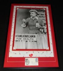 Lucille Ball Signed Framed 27x41 I Love Lucy Poster Display JSA Vitameatavegemin