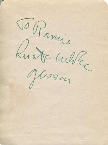 Lucille Gleason Actress / Klondike Annie & Actor Bob Sully Signed Page Autograph