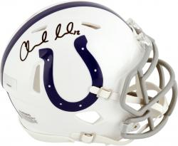 Andrew Luck Indianapolis Colts Autographed Riddell Speed Mini Helmet - Mounted Memories