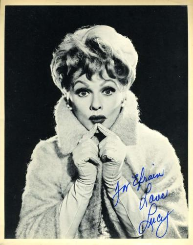 LUCY LUCILLE BALL Hand Signed JSA COA 8X10 Photo Autographed Authentic