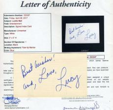 Lucy Lucille Ball Jsa Coa Hand Signed 3x5 Index Card Authenticated Autograph