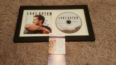Luke Bryan Autographed Framed Doin My Thing Signed Cd Cover Jsa Authenticated