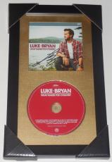 Luke Bryan Autographed What Makes You Country Cd Cover (framed & Matted) - Coa!