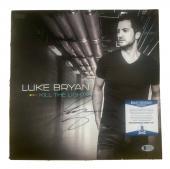 Luke Bryan Kill Lights Autographed Signed LP Album Record Beckett BAS Certified