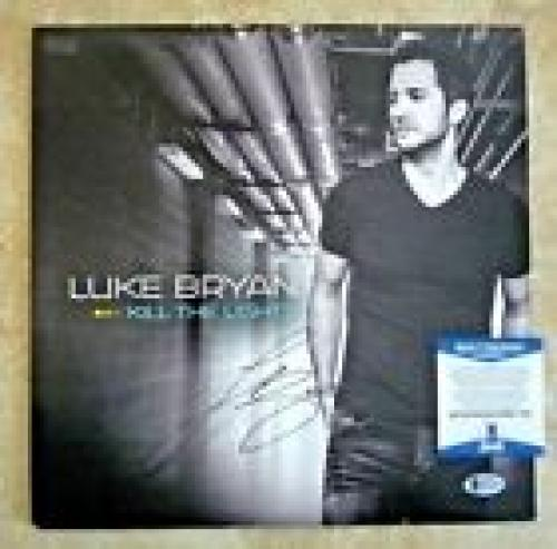 Luke Bryan Kill Lights Autographed Signed LP Album Record Beckett BAS Certified