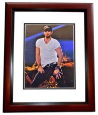 Luke Bryan Signed - Autographed Country Music Singer 8x10 inch Photo - MAHOGANY CUSTOM FRAME - American Idol Judge - Guaranteed to pass PSA or JSA