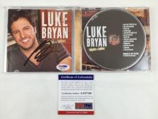 Luke Bryan Signed Autographed Tailgates & Tanlines Cd Booklet Psa/dna Coa