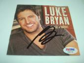 Luke Bryan Signed Tailgates & Tanlines CD Cover Autographed PSA/DNA COA 1A