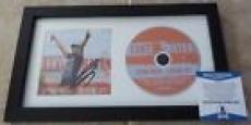 Luke Bryan Spring Break Checkin' Out Signed Framed CD Display BECKETT Certified