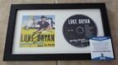 Luke Bryan Spring Break Here To Party Signed Framed CD Display BECKETT Certified