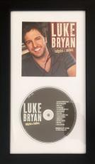 Luke Bryan (Tailgates & Tanlines) Framed Signed 6.5x12 Cd Cover JSA
