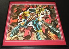 Luke Cage Power Man Original Framed 1975 Marvel Poster 12x12