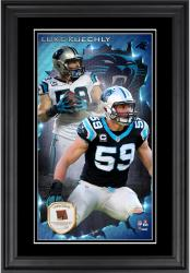 Luke Kuechly Carolina Panthers 10'' x 18'' Vertical Framed Photograph with Piece of Game-Used Football - Limited Edition of 250