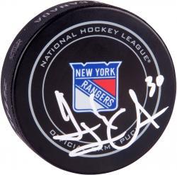 Henrik Lundqvist New York Rangers Autographed Official Game Puck
