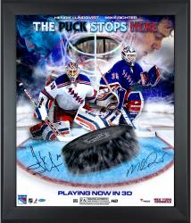 Mike Richter & Henrik Lundqvist New York Rangers Framed Autographed 20'' x 24'' In Focus Photograph-#2-29, 31-34 of a Limited Edition of 35
