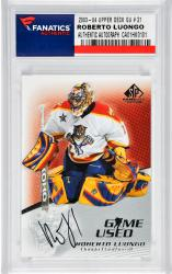 LUONGO, ROBERTO AUTO 2003-04 UPPER DECK GU # 21) - Mounted Memories