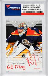 "LUONGO, ROBERTO AUTO ""RED RISING"" 2003-04 UPPER DECK SP #38) - Mounted Memories"
