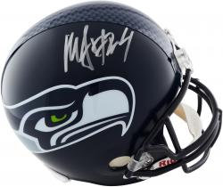 Marshawn Lynch Seattle Seahawks Autographed Riddell Replica Helmet