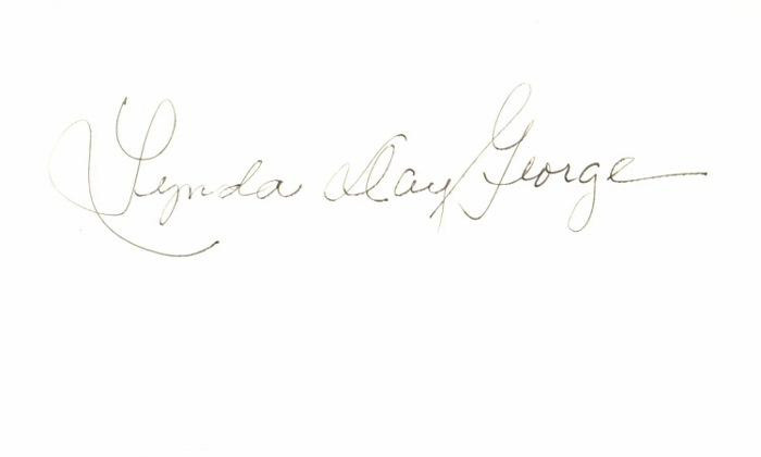 Lynda Day George Signed - Autographed 3x5 inch Index Card - TV Show  Mission: Impossible Actress - Guaranteed to pass BAS