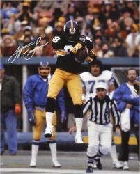 Lynn Swann Pittsburgh Steelers Autographed 16'' x 20'' Jumping In Air Photograph - Mounted Memories