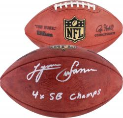 "Lynn Swann Pittsburgh Steelers Autographed Duke Pro Football with ""4X SB Champs"" Inscription"