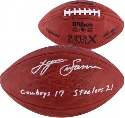 "Lynn Swann Pittsburgh Steelers Autographed Duke Pro Football with ""Cowboys 17-Steelers 21"" Inscription"