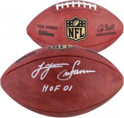 "Lynn Swann Pittsburgh Steelers Autographed Duke Pro Football with ""HOF 2001"" Inscription"