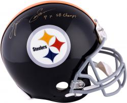 "Lynn Swann Pittsburgh Steelers Autographed Riddell Pro-Line Throwback Helmet with ""4X SB Champs"" Inscription"