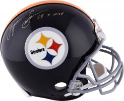 "Lynn Swann Pittsburgh Steelers Autographed Riddell Pro-Line Throwback Helmet with ""SB X MVP"" Inscription"