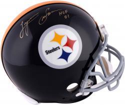 "Lynn Swann Pittsburgh Steelers Autographed Riddell Throwback Pro-Line Helmet with ""HOF 2001"" Inscription"