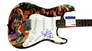 Lynyrd Skynyrd Signed Billy Powell Plus Graphics Guitar PSA ACOA Witness