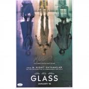 "M. Night Shyamalan and James McAvoy Glass Autographed 12"" x 18"" Movie Poster - JSA"
