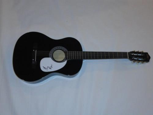 Mac Miller Signed Black Acoustic Guitar Good Am Rapper Pittsburgh Jsa Coa