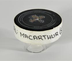 Clarke MacArthur Toronto Maple Leafs 4/25/13 Game-Used Goal Puck at Florida Panthers