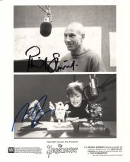 MACAULAY CULKIN+PATRICK STEWART HAND SIGNED 8x10 PHOTO     RARE     JSA LETTER