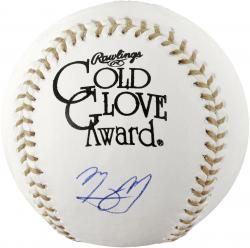 Manny Machado Baltimore Orioles Autographed Gold Glove Baseball