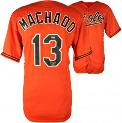 Manny Machado Baltimore Orioles Autographed Orange Jersey