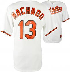 Manny Machado Baltimore Orioles Autographed White Jersey
