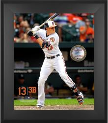 "Manny Machado Baltimore Orioles Framed 20"" x 24"" Gamebreaker Photograph with Game-Used Ball"