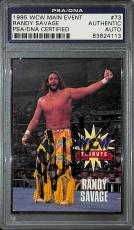 Macho Man Randy Savage Signed 1995 WCW Main Event Card #73 PSA/DNA COA WWE Auto