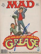 MAD MAGAZINE signed GREASE - john travolta 3/79 - AUTHENTICATED