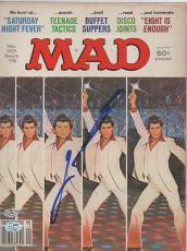 MAD MAGAZINE signed SATURDAY NIGHT FEVER - john travolta 9/78 - AUTHENTICATED