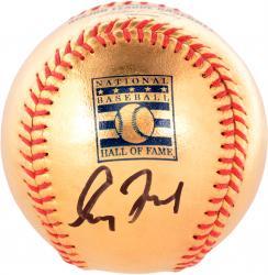 Greg Maddux Autographed 24KT Dipped HOF Logo Baseball