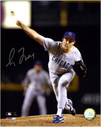 Greg Maddux Chicago Cubs Autographed 8'' x 10'' Night Shot Photograph - Mounted Memories
