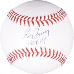Greg Maddux Atlanta Braves Autographed Baseball with HOF 2014 Inscription - Mounted Memories