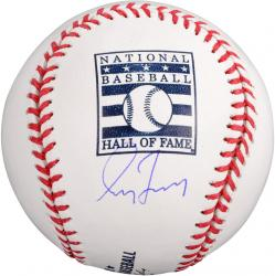 Greg Maddux Atlanta Braves Autographed HOF Logo Baseball - Mounted Memories
