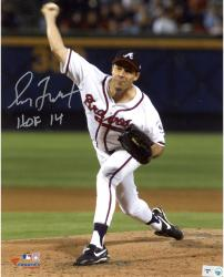 "Greg Maddux Atlanta Braves Autographed 8"" x 10"" Vertical Pitching Photograph with HOF 2014 Inscription"