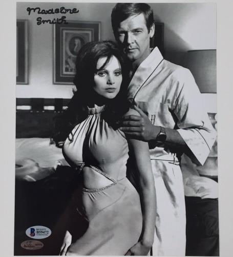 MADELINE SMITH James Bond Girl MISS CARUSO signed 8x10 Photo BAS COA Roger Moore