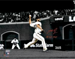 "Madison Bumgarner San Francisco Giants Autographed 11"" x 14"" Spotlight 2014 World Series Photograph with 14 WS MVP"